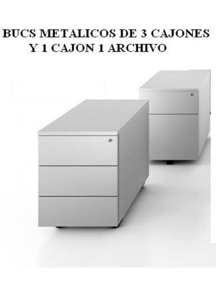 BUCS 3 CAJONES Y CAJON Y ARCHIVO METALICO