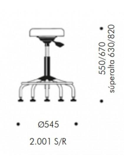 TABURETE 2.001 S/R, IVA INCLUIDO.