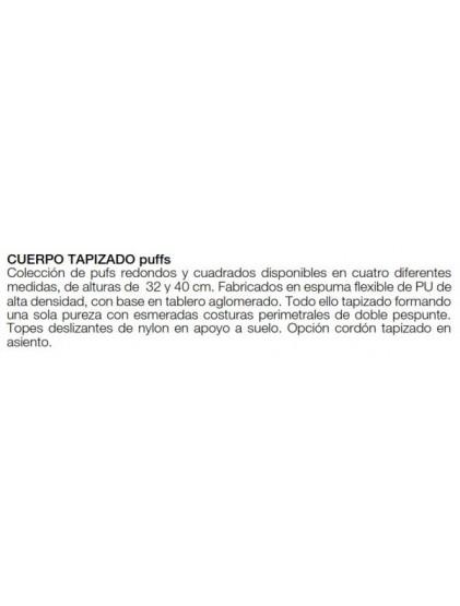 PUFFS CUADRADOS Y REDONDOS.