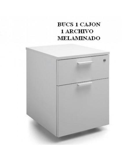 BUCS 3 CAJONES Y CAJON Y ARCHIVO MELAMINADO
